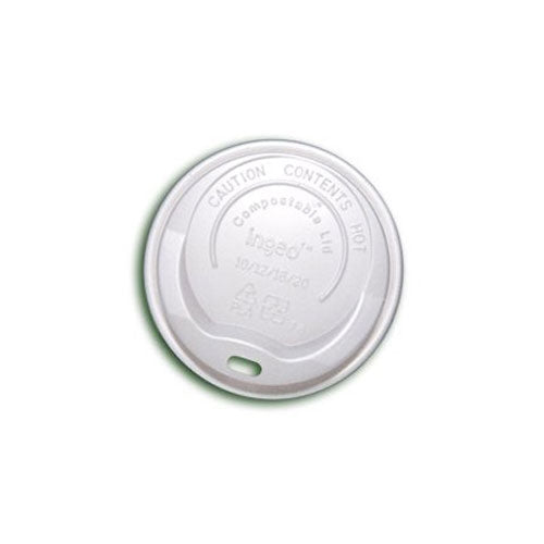 12oz Biodegradable Sip Through White Lids (50's)