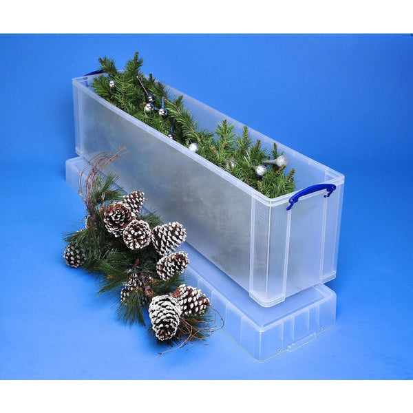 Really Useful Clear Plastic Storage Box 77 Litre