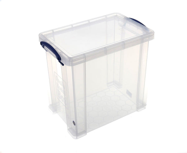 Really Useful Clear Plastic Storage Box 25 Litre