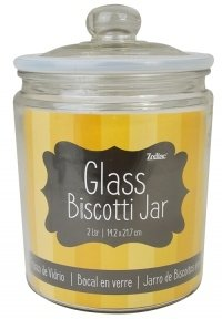 Zodiac Yellow Glass Biscotti Jar 2 Litre