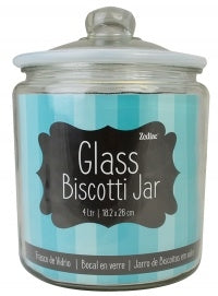 Zodiac Blue Glass Biscotti Jar 4 Litre