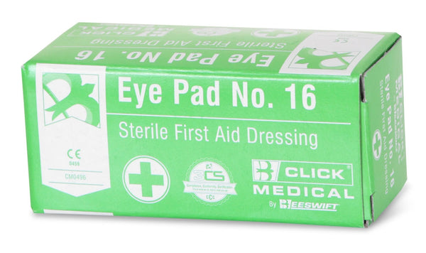 B-Click Medical Eye Pad No. 16 Sterile First Aid Dressing
