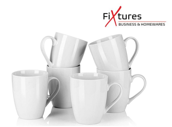 Fixtures Brand White 12oz/350ml Coffee/Tea Mug