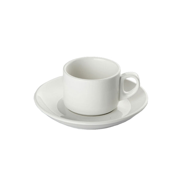 2.8oz Orion White Espresso Cup & Saucer (Set of 6)