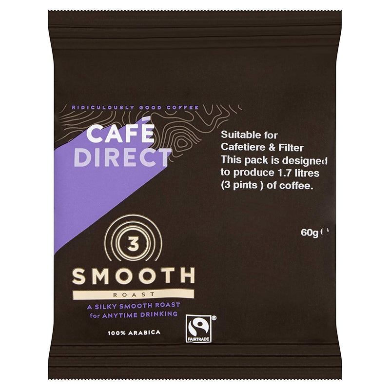 Cafedirect Smooth Roast Ground Coffee Sachet 60g (Pack of 45)