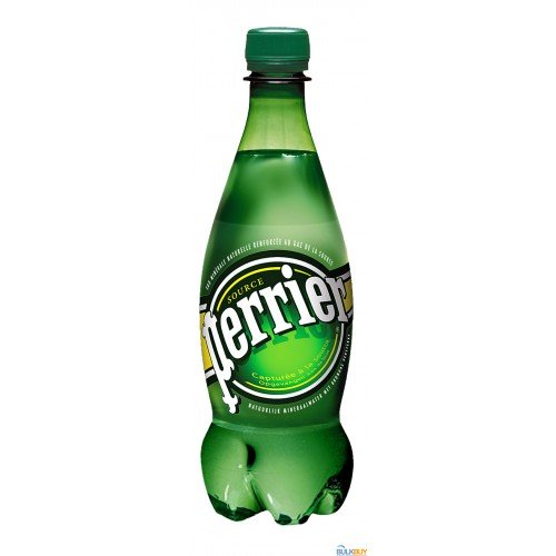 Perrier Carbonated Natural Spring Water in Convenient Plastic Bottles, 24 Pack x 500ml
