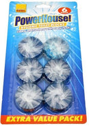 Powerhouse Hygienic Blue Toilet Blocks (Pack of 6)