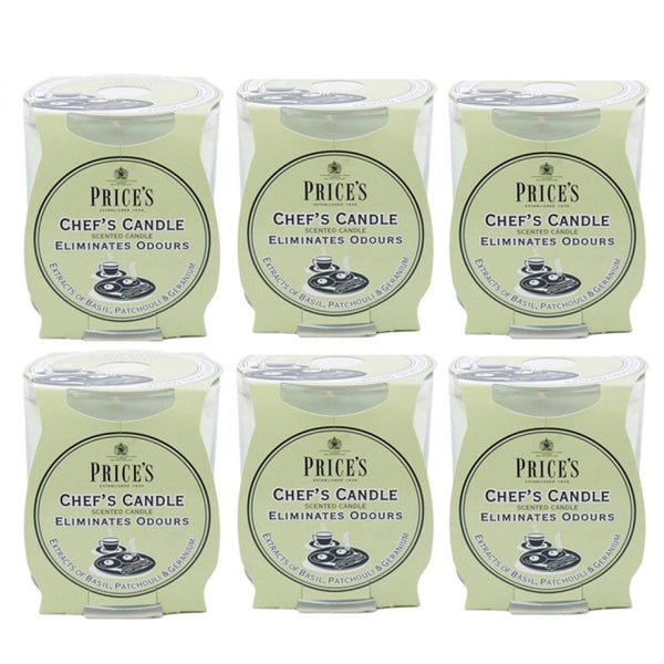 Prices Chefs Large 45hr Candle in Jar Eliminates Cooking Cooks Kitchen Odour