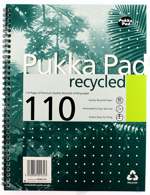 Pukka Pads Recycled A4 Notebook