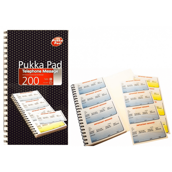Pukka Pads Telephone Message Pad Wirebound 200 Pages