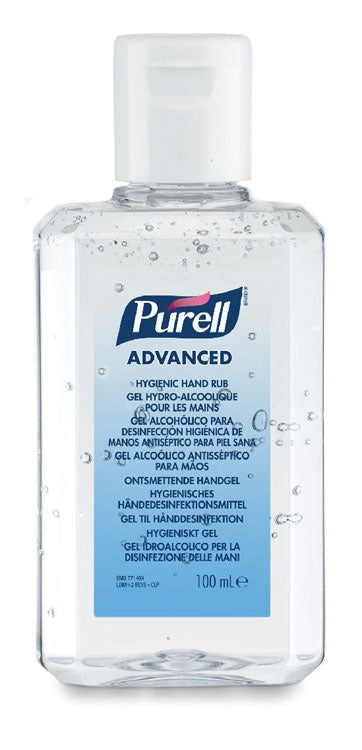 Purell Antibacterial Alcohol Hand Rub Gel Cleanser Sanitiser 100ml Flip Top Bottle