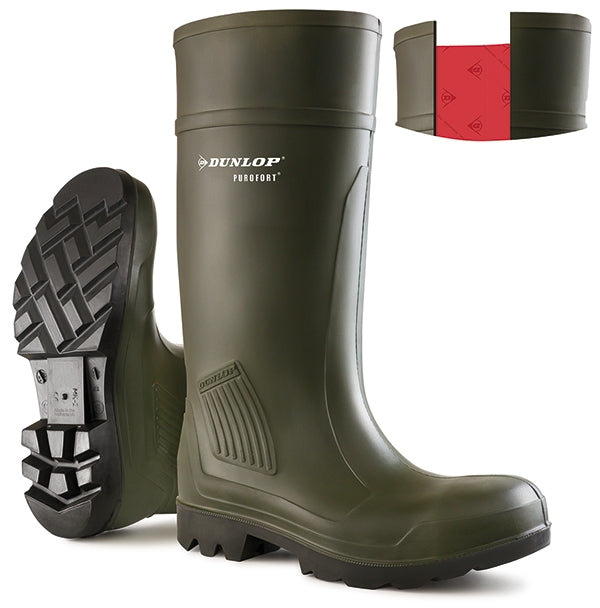 Dunlop Professional Purofort Original NS Green Wellies {All Sizes}