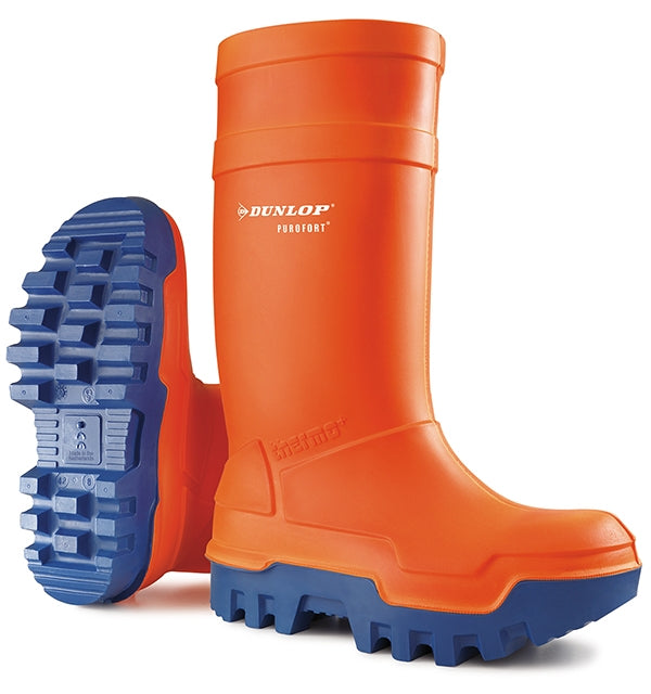 Dunlop Purofort Thermo Safety Wellies ORANGE Safe to -50°C {All Sizes}