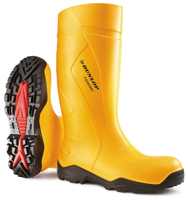Dunlop Purofort+ Full Safety Yellow Wellington Boot {All Sizes}