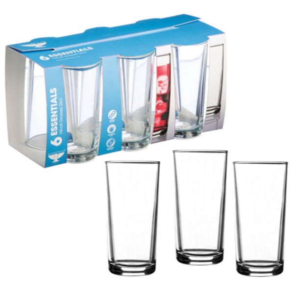 Essentials Sleeve Pack x  6 Hi-ball Glasses 26cl