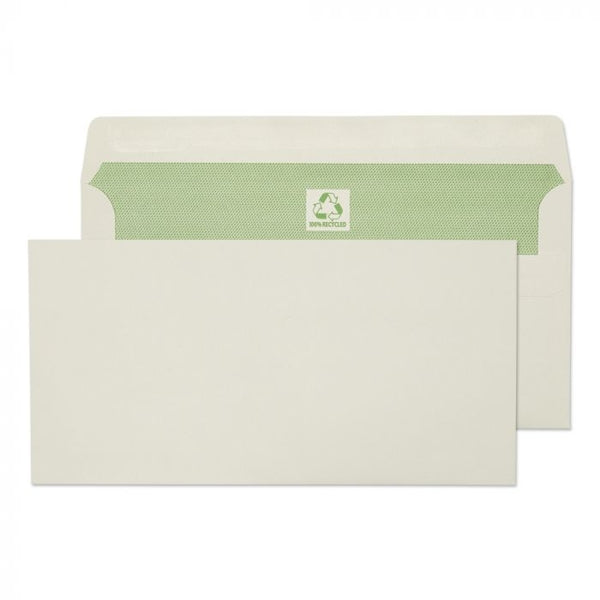 Purely Enviromental  DL White Self Seal Envelopes 500's