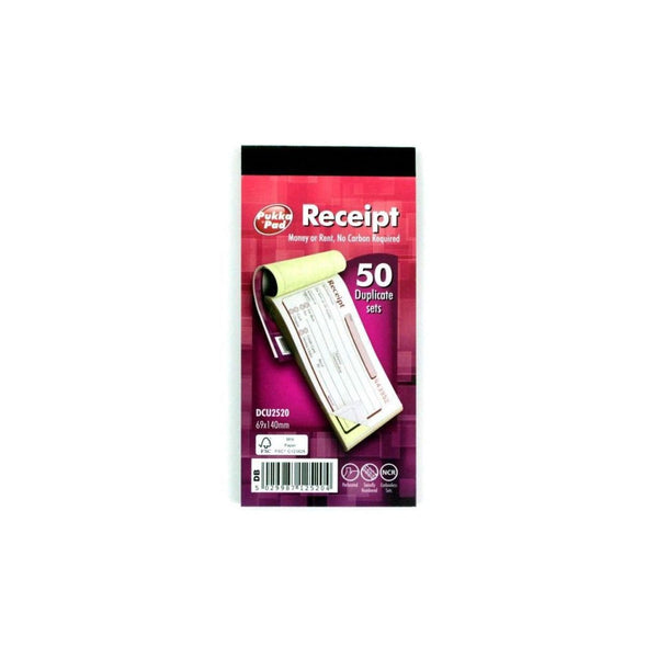 Pukka Receipt 69x140mm Duplicate Book