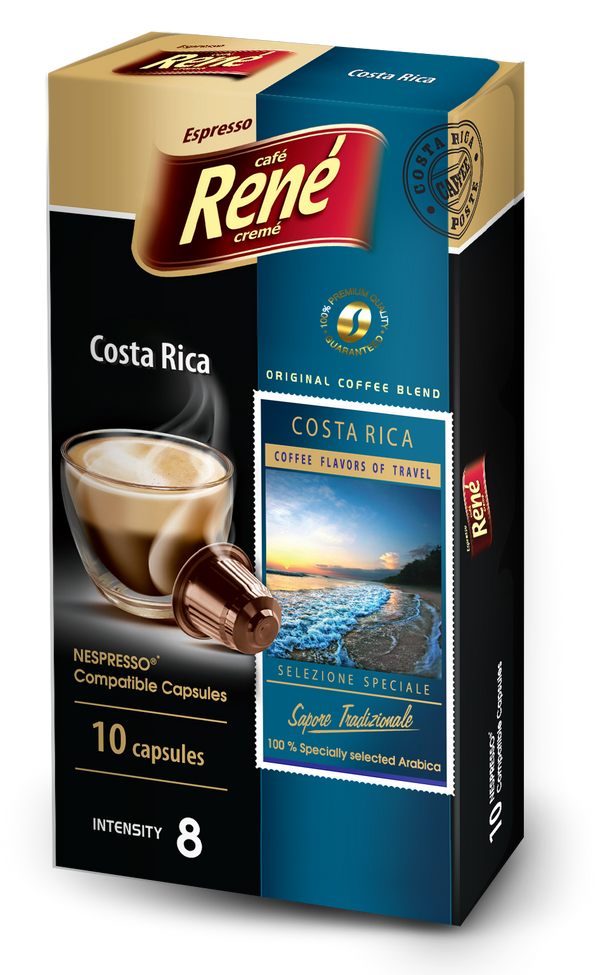 Cafe Rene Special Selection Costa Rica Nespresso Compatible 10 Pods