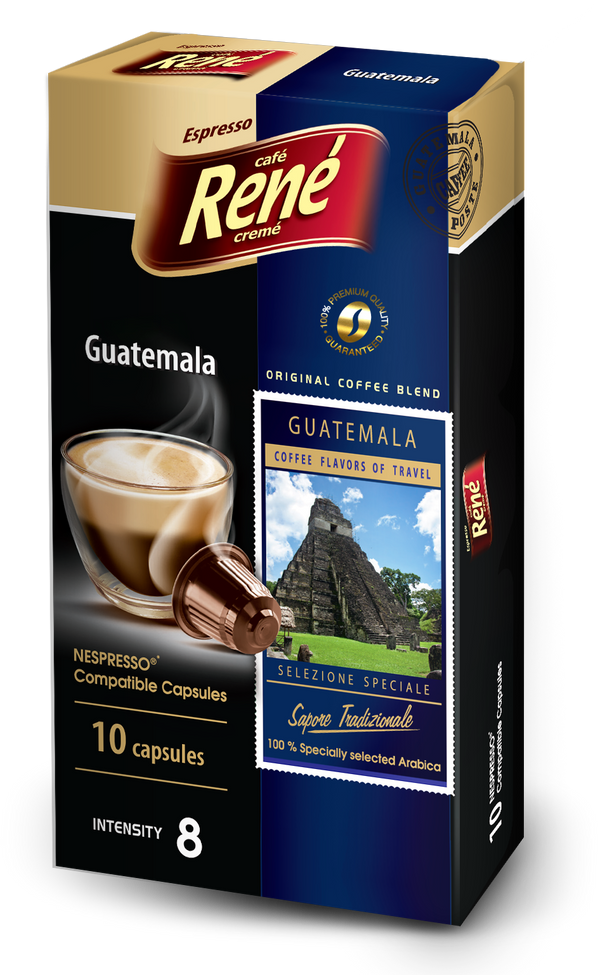 Cafe Rene Special Selection Guatemala Nespresso Compatible 10 Pods (Full Pack 4's)