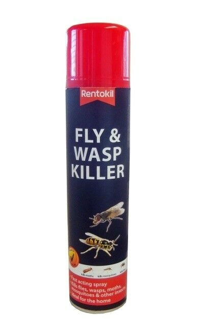 Rentokil PSF126 Fly & Wasp Killer Aerosol 300ml