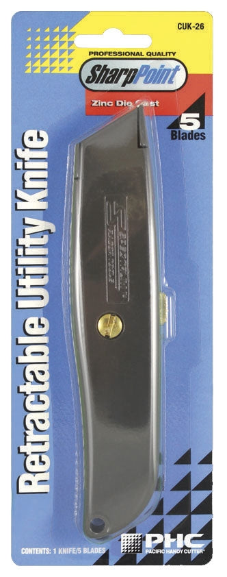 PHC CUK-26 Retractable Utility Knife 5 Blades