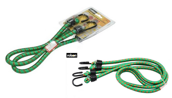 Rolson 2 Piece Bungee Cord Set 1200mmx12mm