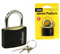 Rolson 66405 Steel Body Padlock in Black 40mm {3 Key's}