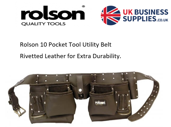 Rolson Oil Tan Double Tool Belt