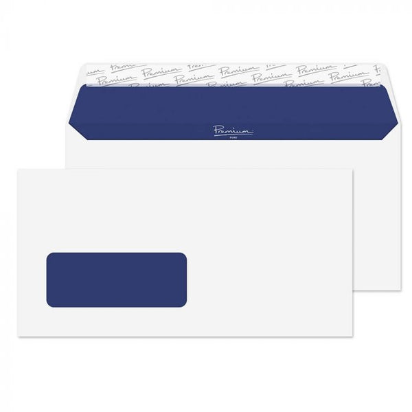 Blake Premium DL White Windowed Peel & Seal Envelopes 500's