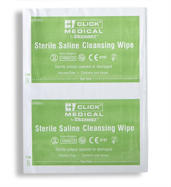 B-Click Medical Sterile Saline Wipes 100's