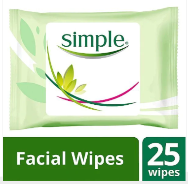 Simple Kind To Skin Cleansing Face Wipes 25's