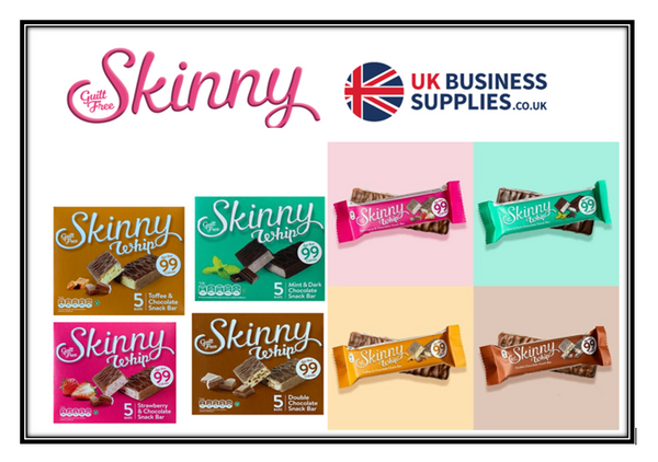 Mixed Case Offer:  Full Case Skinny Whips 5 Case of Each Per Box {20 Boxes}