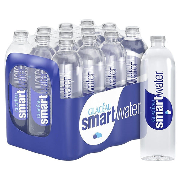 Glaceau Smartwater Natural Mineral Water Bottle Plastic 24 x 600ml