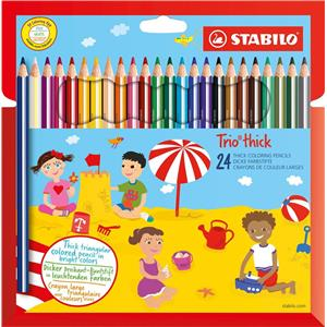 Stabilo Trio Thick Colouring Pencils Pack 24's
