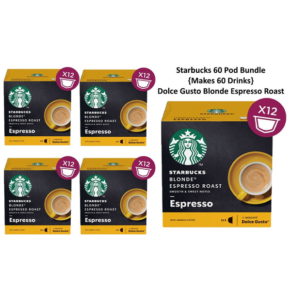 Dolce Gusto Starbucks Blonde Espresso Roast 12's - Pack 5