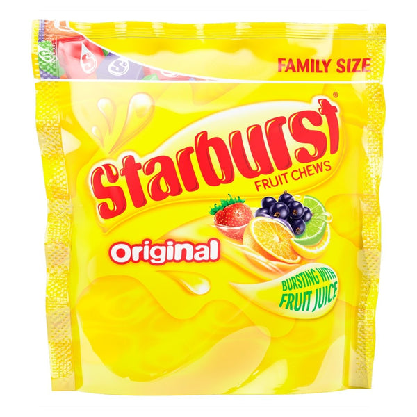 Starburst Original Fruit Chews New Larger Pouch 210g