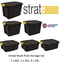Strata Heavy Duty Trunk 60, 42 (2), 24 (3) Litre with Lid {6 Pack Offer}