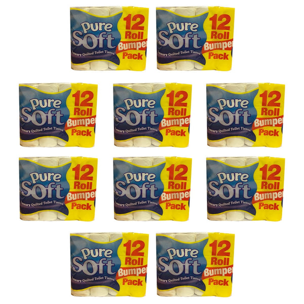 Pure Soft Luxury Quilted Toilet Rolls (Pack of 120) BULK OFFER