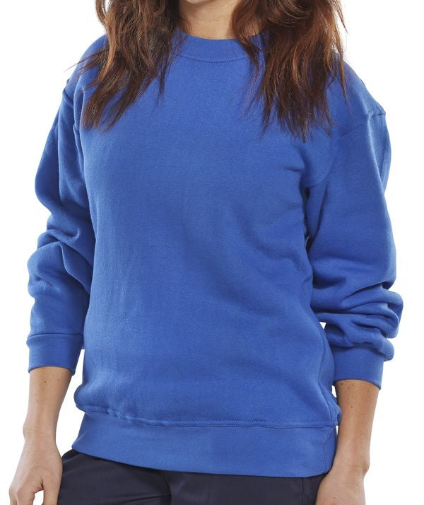B-Click Workwear Small Royal Blue Sweatshirt