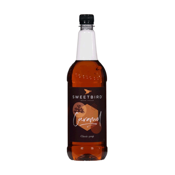 Sweetbird Caramel Coffee Syrup 1litre (Plastic)