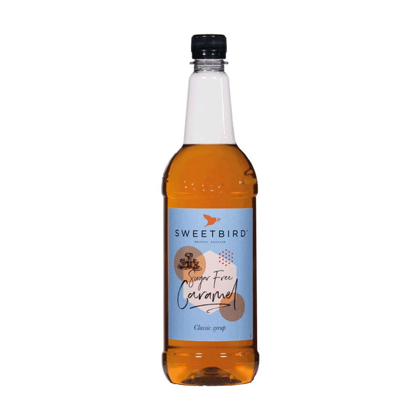 Sweetbird Sugar Free Caramel Coffee Syrup 1litre (Plastic)