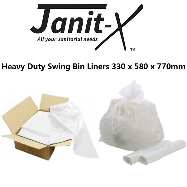 Janit-X White {Heavy Duty} Swing Bin Liners 500s