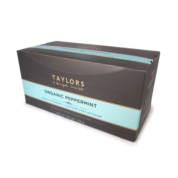 Taylors of Harrogate Organic Peppermint Enveloped Tea Pack 100's