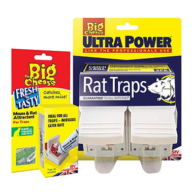 The Big Cheese Ultra Power 2-Pack Rat Trap & Mouse & Rat Attractant