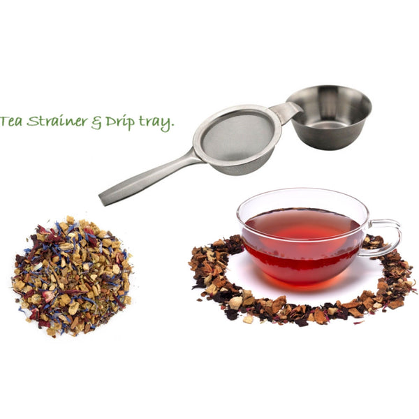 Sunnex Tea Strainer With Drip Bowl