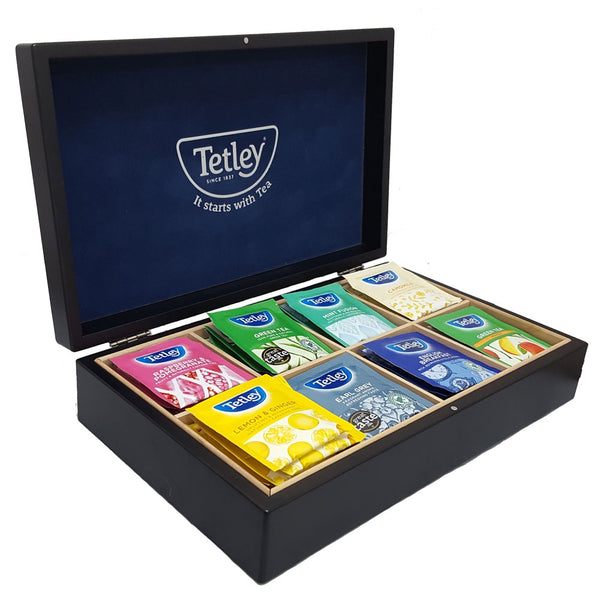 Tetley Tea Display Box Inc 80 mixed Enveloped Tea