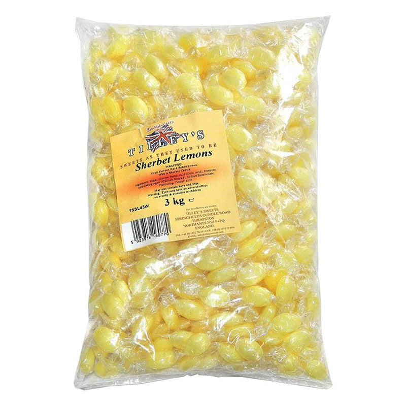 Tilleys Lemon Sherbets Individually Wrapped 3kg Bag