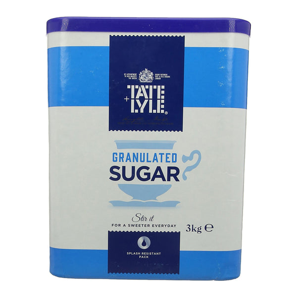 Tate + Lyle 3kg Granulated Sugar Tub