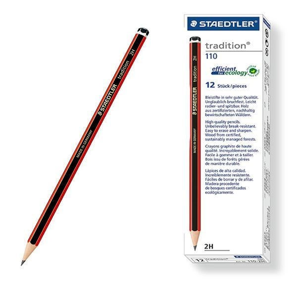 Staedtler Tradition 110 (F) Wood Pencil (Pack 12)