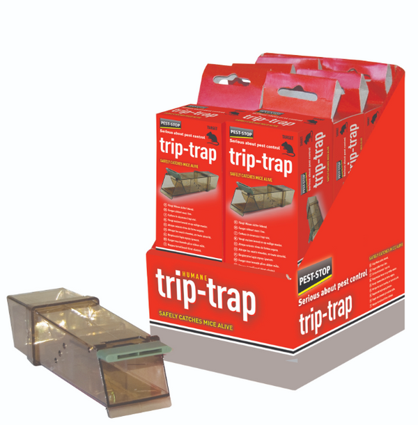 Pest-Stop Systems Trip Trap Humane Live Catch Mouse Traps PRCPSTTB